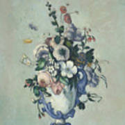 Flowers In A Rococo Vase Poster