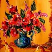 Flowers Modern Abstract Fine Art Canvas Poster