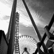 Focus On The Ferris Wheel Poster