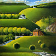 Foothills Of The Berkshires Poster