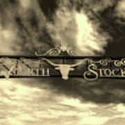Fort Worth Stockyards District Archway Poster