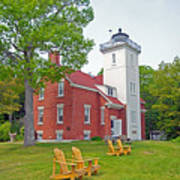 Forty Mile Point Lighthouse Poster