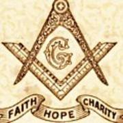 Freemason Symbolism By Pierre Blanchard Poster