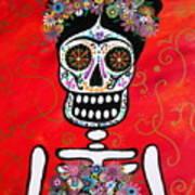 Frida Dia De Los Muertos Poster