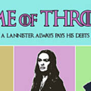 Game Of Thrones. Lannister. Poster