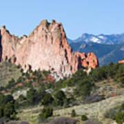 Garden Of The Gods Park In Colorado Springs In The Morning Poster