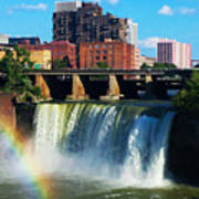 Genesee River Rainbow Poster