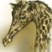 Giraffe Contemplation Poster