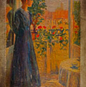 Girl At The Window Poster