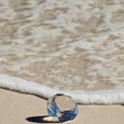 Glass Diamond On The Beach Poster