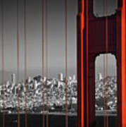 Golden Gate Bridge Panoramic Poster