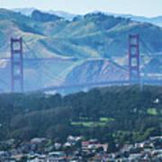 Golden Gate Bridge View From Twin Peaks San Francisco Poster