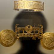 Golden Pre-columbian Figure Poster