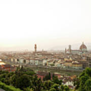 Golden Sunset Of Florence, Italy. Poster