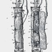 Golf Caddy Bag Patent 1905 Poster