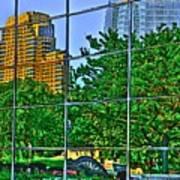 Grand Rapids Mi On Glass-17 Poster