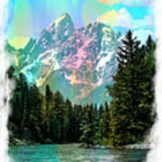 Grand Tetons From The Snake River Poster