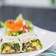 Grilled Vegetable And Salad Wrap Poster