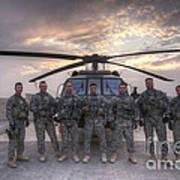 Group Photo Of Uh-60 Black Hawk Pilots Poster