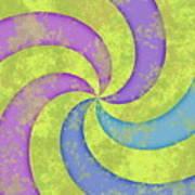 Grunge Swirl Poster