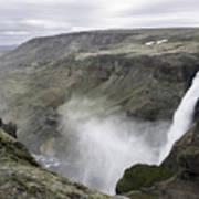 Haifoss Waterfall Iceland 1340 Poster
