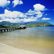 Hanalei Bay With Pier Poster