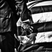 Hand In Flag Poster