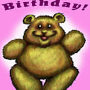 Happy Birthday Bear Poster