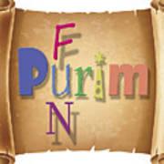 Happy Joyous Purim  Poster