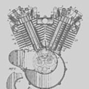 Harley Engine Patent From 1919 Poster