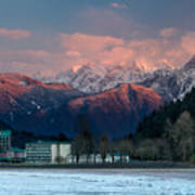 Harrison Hot Springs And Mount Cheam Range Poster