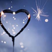 Heart Shape Sparkler Poster