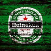 Heineken Beer Wood Sign 1e Poster