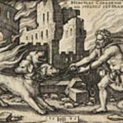 Hercules Capturing Cerberus Poster