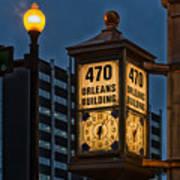 Historic Clock - Beaumont Texas Poster