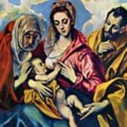 Holy Family With St Anne Poster