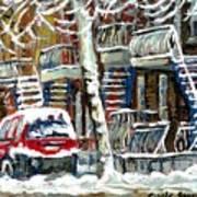 Achetez Les Meilleurs Peintures De Scenes De Montreal En Hiver Winter Scene Paintings Poster