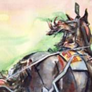 Horse Art In Watercolor Poster