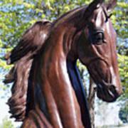 Horse Head In Bronze Poster