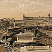 Hospital And Cemetery At Scutari, C.1854 Poster