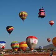 Hot Balloon Festival, Leon, Mexico Poster