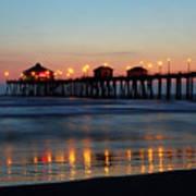 Huntington Beach Pier At Sunset Poster