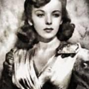 Ida Lupino, Vintage Actress Poster