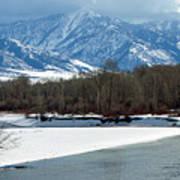 Idaho Winter River Poster