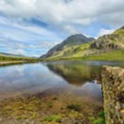 Idwal Lake Snowdonia Poster by Adrian Evans