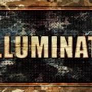 Illuminati Pop Art By Mary Bassett Poster