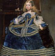 Infanta Margarita Teresa In A Blue Dress Poster