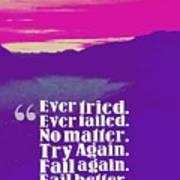 Inspirational Timeless Quotes - Samuel Beckett Poster