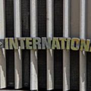 International Semi Truck Emblem Poster