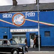 Ira Mural In Belfast In Northern Ireland Poster